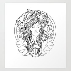 Zodiac Series | Virgo Art Print