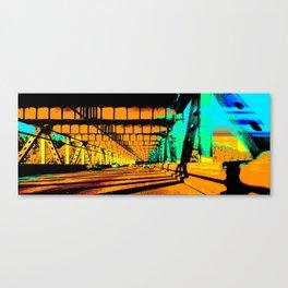 Bay Bridge Evening Pixelart Canvas Print