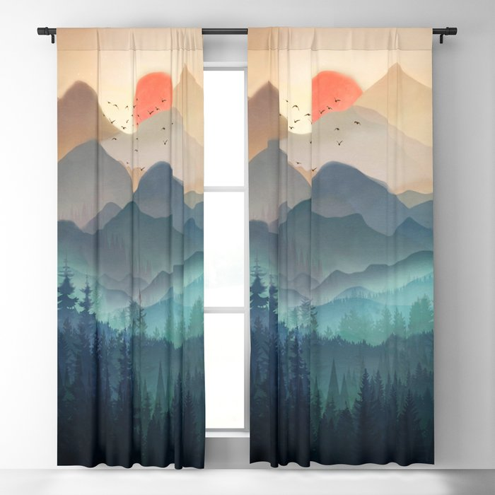 Wilderness Becomes Alive at Night Blackout Curtain