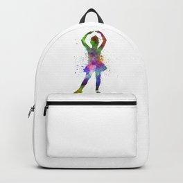 Little girl ballerina ballet dancer dancing Backpack