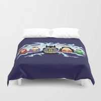 heroes Duvet Covers featuring Tiggle Heroes by Laura's Lovelies