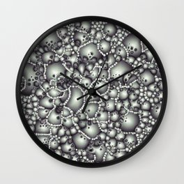 Microscopic Abstract Shapes Wall Clock