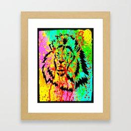 Gold Lion Grr Framed Art Print