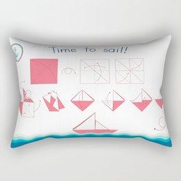 Time to sail! Rectangular Pillow