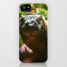 Curious Komodo iPhone Case