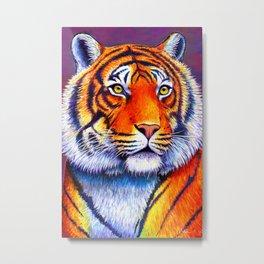 Colorful Bengal Tiger Portrait Metal Print