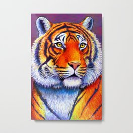 Fiery Beauty - Colorful Bengal Tiger Metal Print