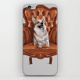 Corgi in Chair iPhone Skin