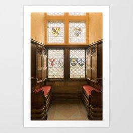 Edinburgh castle stained glass windows Scotland Art Print