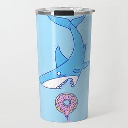 Shark Versus Donut Travel Mug