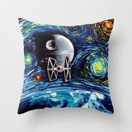 van Gogh Never Saw The Empire Throw Pillow