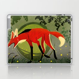 """Tribal Maned Wolf """"Fifty Shades of Green"""" Laptop & iPad Skin"""
