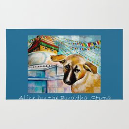 Alice by the Buddha Stupa Rug