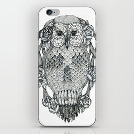 owl&skull iPhone Skin