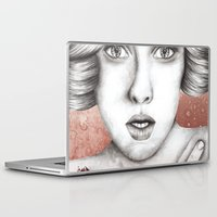 sleeping beauty Laptop & iPad Skins featuring Sleeping Beauty by Kayleigh Day