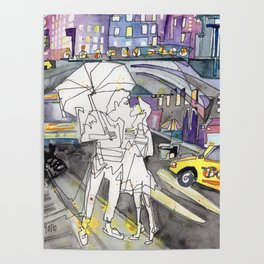Kissing in New York City Poster