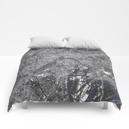 Moscow City Map Comforters