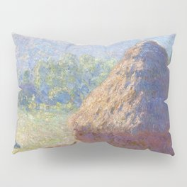 1891-Claude Monet-Haystacks, end of Summer-60 x 100 Pillow Sham