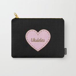I Love Ukuleles Simple Heart Design Carry-All Pouch