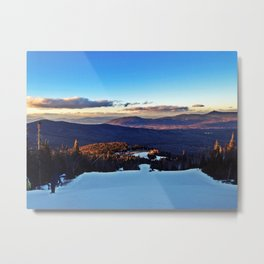 Ski Trail on Sugarloaf Mountain in Carrabassett Valley, Maine Metal Print