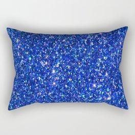 Blue Glitter Rectangular Pillow