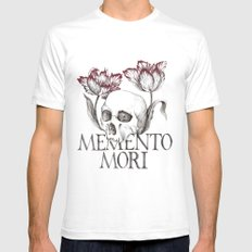 Memento Mori SMALL White Mens Fitted Tee