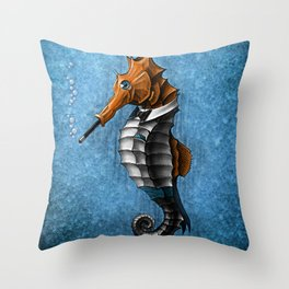 Sophisticated Seahorse Throw Pillow