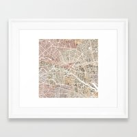 berlin Framed Art Prints featuring Berlin by Mapsland