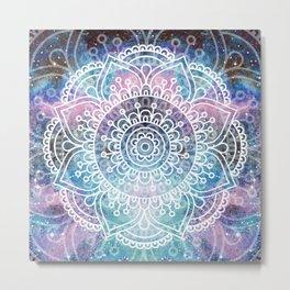 Mandala Dream | Watercolor Galaxy Painting Metal Print