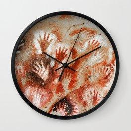 Cave Art Lascaux Hands Wall Clock