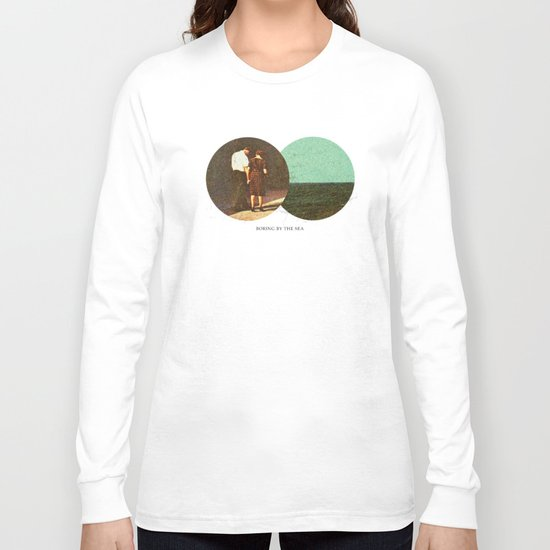 Boring by The Sea | Collage Long Sleeve T-shirt