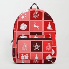 Christmas pattern - trees, presents, santa Backpack