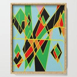 Geometric multicolor Serving Tray