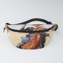 """""""The Trooper"""" Western Art by Frederick Remington Fanny Pack"""