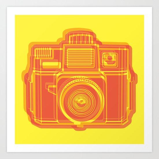 I Still Shoot Film Holga Logo - Yellow & Red Art Print