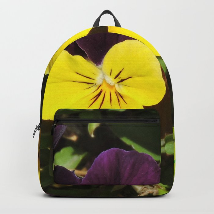 The Pansies at the Corner Backpack