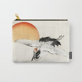 Flying Barn swallow by Kōno Bairei Carry-All Pouch