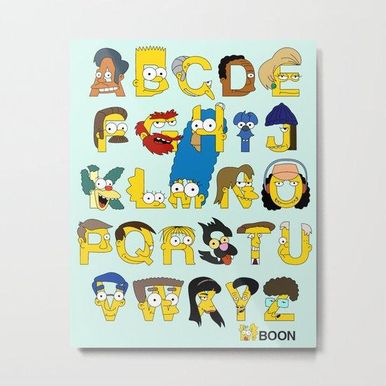 Simpsons Alphabet Metal Print