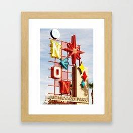 Neon Boneyard Framed Art Print