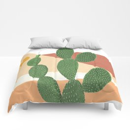 Abstract Cactus II Comforters