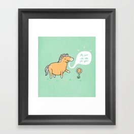 My poo will help you grow! Framed Art Print