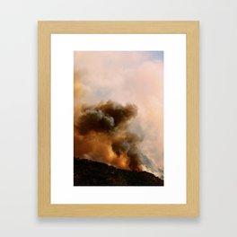 Cedar City Forest Fire - III Framed Art Print