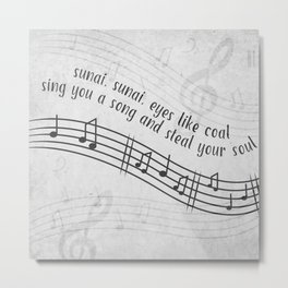Sing You a Song Metal Print