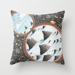 Face the unknown and you will start to know yourself Throw Pillow