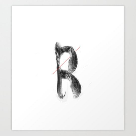 The Letter Hair Art Print