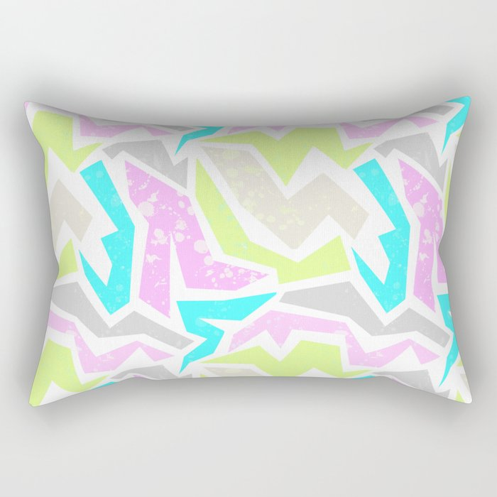 Abstract painting in pastel shades . Rectangular Pillow