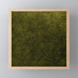 olive green velvet | texture Framed Mini Art Print