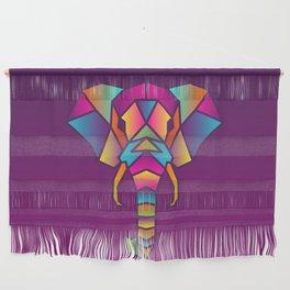 Elephant   Geometric Colorful Low Poly Animal Set Wall Hanging