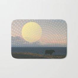 Cow at Sunset Bath Mat