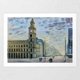 Melbourne GPO, Bourke Street Mall Art Print